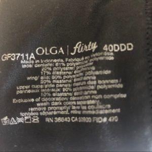 olga Intimates & Sleepwear - Olga Flirty Bra Lace Full-Figure 40DDD Bra GF3711A